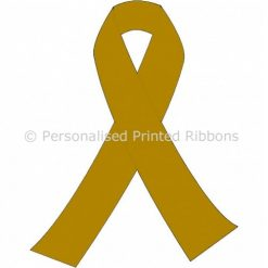Antique Gold Ready to Wear Charity Awareness Ribbons