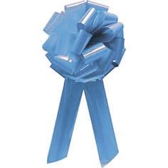 Baby Blue Pom Pom Bow