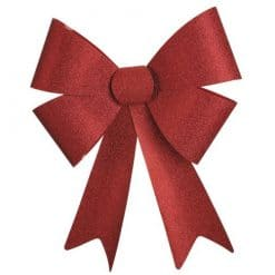 Big Red Glitter Bow