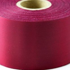 Claret 100mm Wide Printed Ribbons