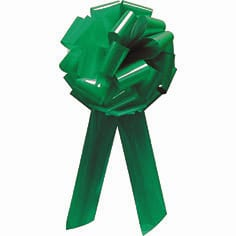 Emerald Green Pom Pom Bow