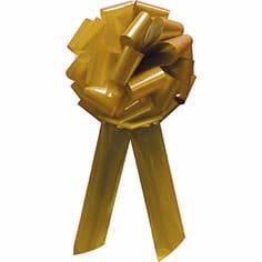 Gold Pom Pom Bow