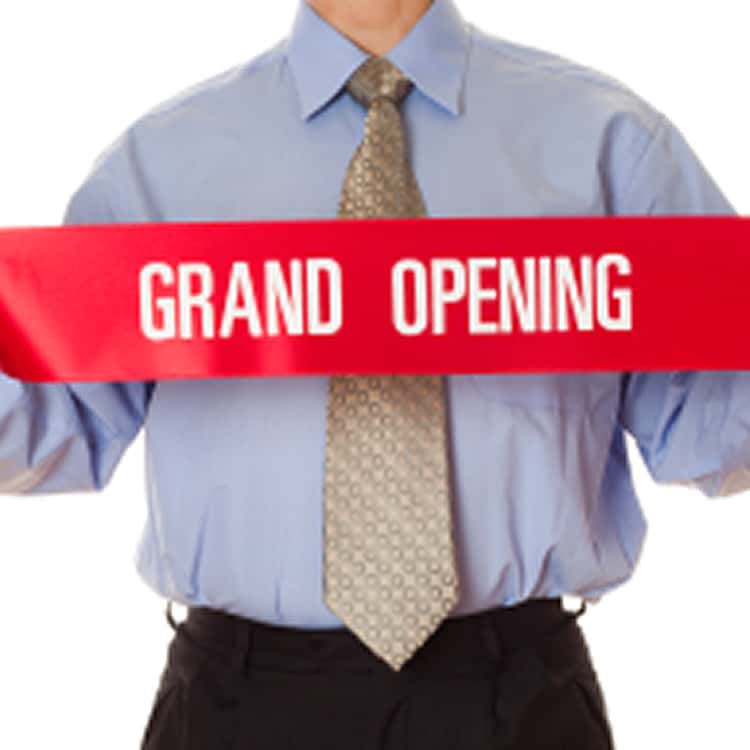 Grand Opening Printed Custom Ribbon 4 inch wide