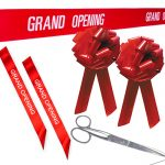 Personalised Printed Ribbons Car Bows Amp Big Scissors In