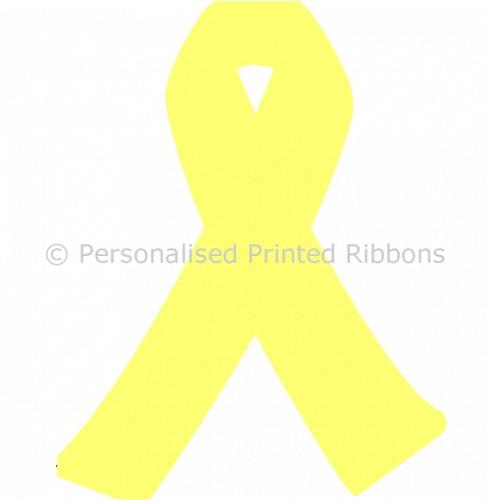 Lemon Ready to Wear Charity Awareness Ribbons (Pk 25)