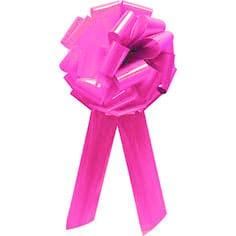 Pom Pom Bow Bright Pink