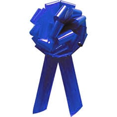 Pom Pom Bow Royal Blue