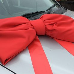 Red Satin 1m Car Bow