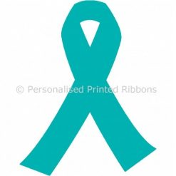 Turquoise Blue Ready to Wear Charity Awareness Ribbons