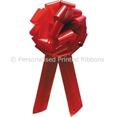 Red Pom Pom Big Bow