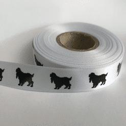 Dog Printed Ribbon - Cocker Spaniel Printed Ribbon