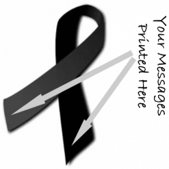 BLACK PRINTED CHARITY RIBBONS