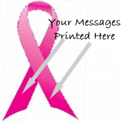 BRIGHT PINK PRINTED CHARITY RIBBON