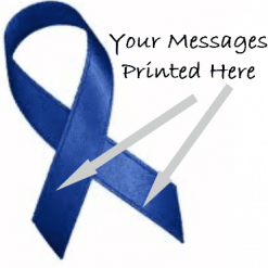 NAVY BLUE PRINTED CHARITY RIBBONS