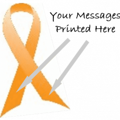 ORANGE CHARITY RIBBONS PRINTED