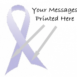 LILAC PRINTED CHARITY RIBBONS