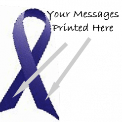 PURPLE  PRINTED CHARITY RIBBONS