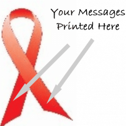RED PRINTED CHARITY RIBBONS