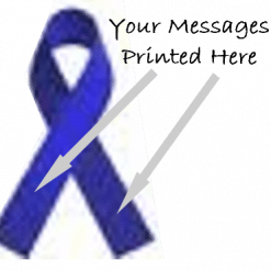 ROYAL BLUE PRINTED CHARITY RIBBONS