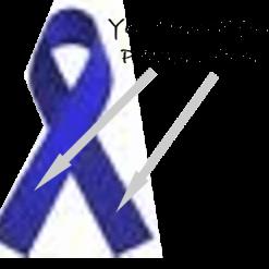 ROYAL BLUE PRINTED CHARITY RIBBONS