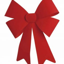 Red Flock Bow 45cm