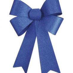 Blue  Glitter Bow -  66cm x 50 cm