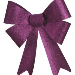 Purple Glitter Bow -  66cm x 50 cm