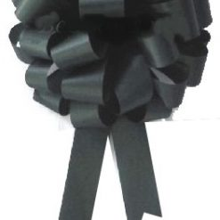 "Large Bow 12"" Pom Pom Black Bow"