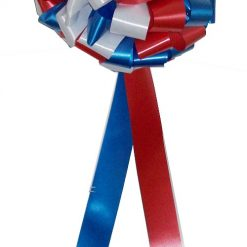 Red White and Blue big bows, choose 3 colours and we'll produce a wonderful big car bow in 3 colours for you.  Buy now form Personalised Printed Ribbons