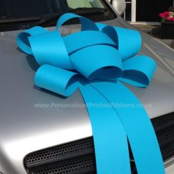 Turquoise Blue Big Rosette Car Bow