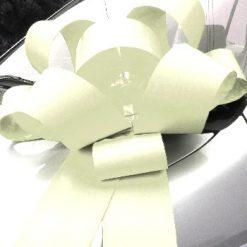 "White Rosette Bow - 30"" Wide"
