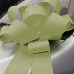 """Cream Rosette Bow - 30"""" Wide"""