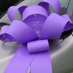 "Lavender Rosette Bow - 30"" Wide"