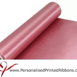 Dusky Pink Satin Ribbon - 290mm wide - 20 metre roll