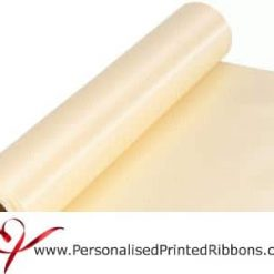 Ivory Wide Satin Ribbon - 290mm wide - 20 metre roll