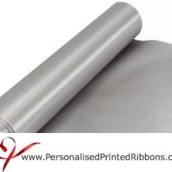 Silver Wide Satin Ribbon - 290mm wide - 20 metre roll