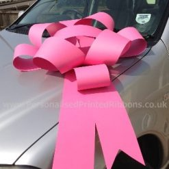 "Bubblegum Pink Rosette Bow - 30"" Wide"