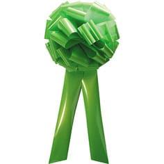 lime green pom pom bow