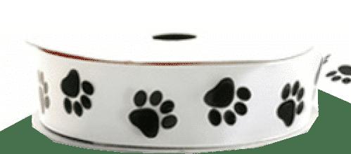 black paw print ribbons