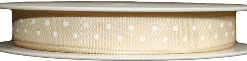cream polka dot printed ribbons