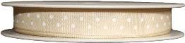 cream polka dot printed ribbons