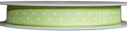 lime green polka dot printed ribbon