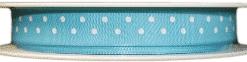 Turquoise polka dot printed ribbons
