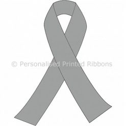 Silver Grey Ready to Wear Charity Awareness Ribbons