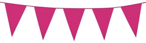 Bright Pink Plastic Bunting 10 meres long