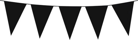 Black Plastic Bunting 10 meres long