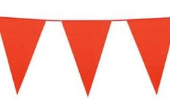 Orange Plastic Bunting 10 meres long