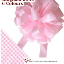Pink Gingham Car Bow - 16