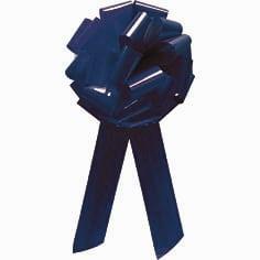 Pom Pom Bow Navy Blue