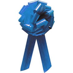 Turquoise Pom Pom Bow